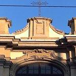 Milano, chiesa di s. Maria della Passione: particolare della facciata (genn. 2017)