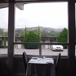 Breath-taking view of the mountain ranges from the restaurant