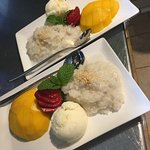 Sticky rice mango+icecream