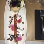 Millefeuilles de foie gras et artichaud