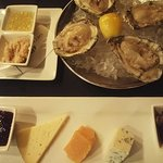 Oysters and Cheese Tray