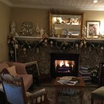 Dine by one of the fireplaces on a chilly morning