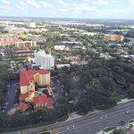 Vista dos hoteis ao redor da International Drive