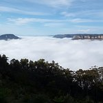 Amazing view with cloud hanging in the valley (early morning)