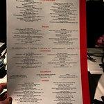 Nice menu.