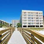 Boardwalk from the beach.