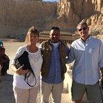 President Sarkosy & wife with personal bodyguard Mahmoud