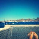 Sailing back into the harbor of La Paz, Mexico