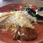 Lamb Tenderloin Kebob, Basmati Rice, Salad