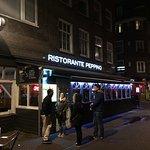 Outside view of Peppino's Italian Restaurant Amsterdam