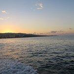 Boat ride to the Luminous Lagoon. Sunset on the Jamaican coast.