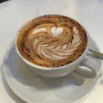 Latte art at Ottolenghi