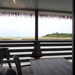 Dinning area view of Harbor Channel & Sugarloaf Island