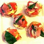 Bruschetta with ham and cheese!