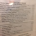 Lunch specials every day