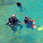 Dad and Ella qualified divers