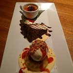 Caribbean Rum cake, Choclate cake, Creme Brule