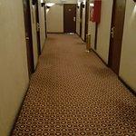 Hallway was much darker than what this photo looks