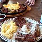 French toast, eggs, sausage for maybe $5