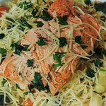 Salmon on Angel Hair