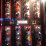 NFL Helmuts display, Westwind Pub 4940 Cherry Creek Rd, Port Alberni, British Columbia