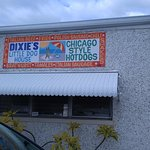 Dixie's Dog House Banner on West side of Building