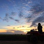 sunset on a quad bike
