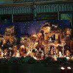 Nativity scene in the church (near Christmas)
