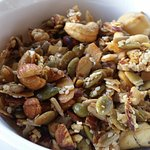 muesli, with lots of nuts seeds etc