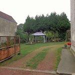 Driveway B&B and yard with awning
