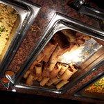Dîner asiatique superbe repas