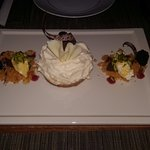 what a delicious cheese cake to finish the dinner