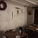 Belle Vue Inn - section of the restaurant with Christmas decorations