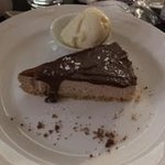 Belle Vue Inn - their delicious chocolate, rum and raisin cheesecake