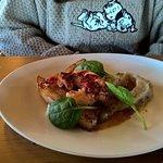 Poitrine de cochon Ibaiona grillée et homard, purée de topinambours à la truffe(01/2017)