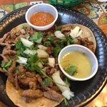 3 carne asada street tacos