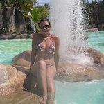 Lagoas calmas com aguas quentes