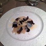 Emincé de St Jacques aux truffes, purée de céleris