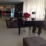 Grand piano in lobby