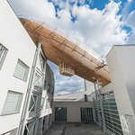 Gulliver Airship on the top of the DOX Centre for Contemporary Art