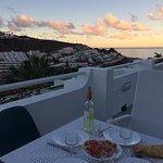 Dinner at our balcony!
