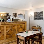 The Bloomsbury Coffeehouse, award winning cafe in the hotel basement serving breakfast and lunch