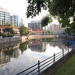 Singapore river opposite hotel