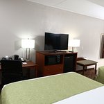 "Stay in comfort all of our rooms have a 42"" TV, microwave and refrigerator."