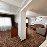 Our king suite has 2 TV's and a sitting area in the other room.
