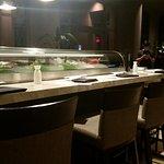 Sushi bar outside of entrance of Deep Blu