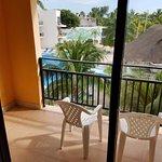 Balcony, 3rd floor room overlooking pool