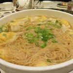 Shrimp dumplings with Cantonese noodles