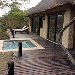 Private patio area and plunge pool