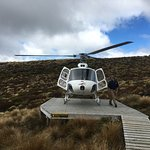 Arriving at Luxmore Hut